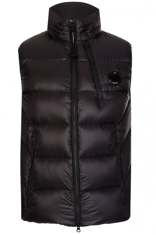 CP COMPANY C.P Company Chest Lens Down Gilet Black
