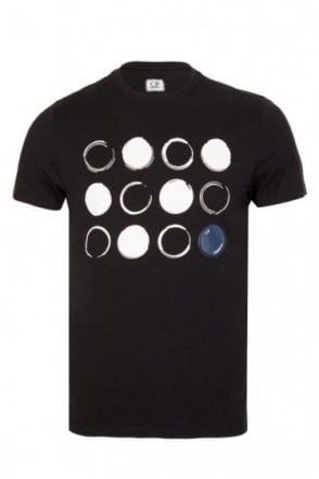 C.P Company Circles Design T-shirt Black