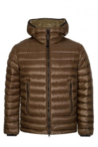 C.P Company Hooded Down Jacket Khaki