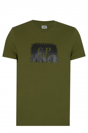 C.P Company Patch Logo T-Shirt Green