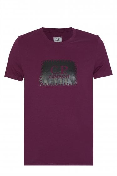 C.P Company Patch Logo T-Shirt Purple