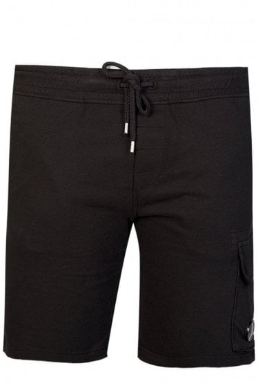 C.P Company Pocket Lens Jersey Shorts Black