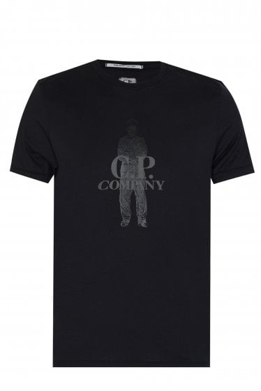 C.P Company Sailor Print T-shirt Black