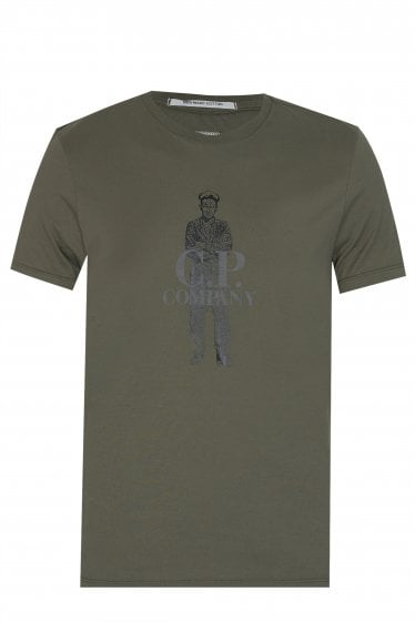 C.P Company Sailor Print T-shirt Green