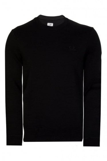 C.P Company Sleeve Lens Cotton Sweatshirt Black