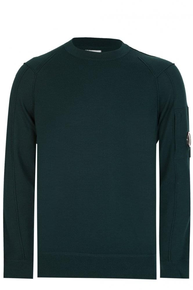 CP COMPANY C.P Company Sleeve Lens Cotton Sweatshirt Green