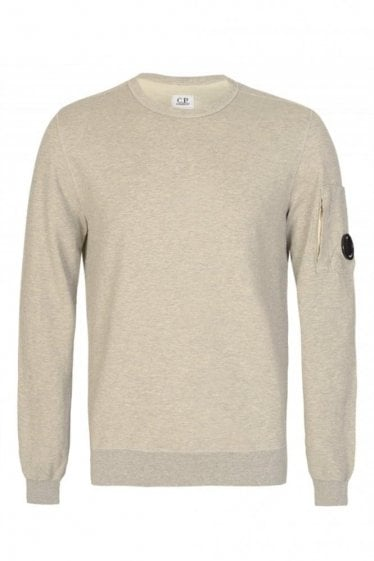 C.P Company Sleeve Lens Cotton Sweatshirt Grey