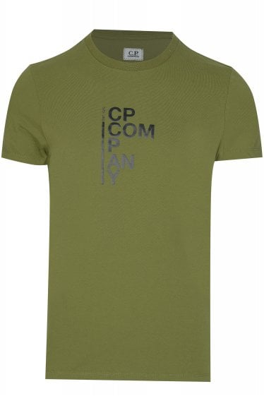 C.P Company Text Print T-shirt Green