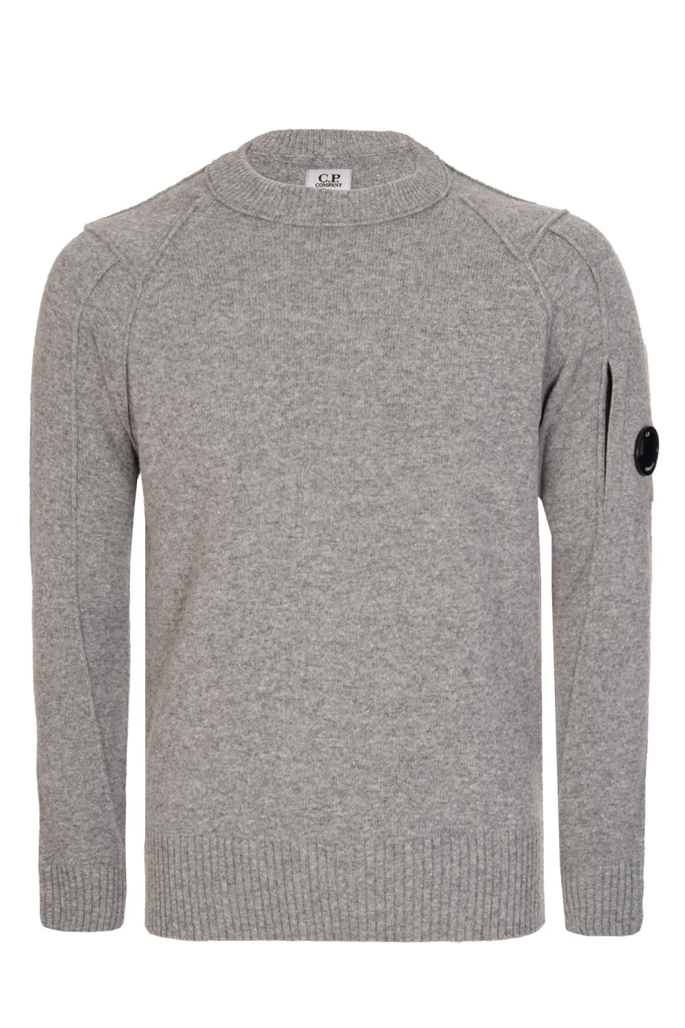 C.P Company Wool Blend Crew Neck Knitted Jumper Grey b3bd54bf7