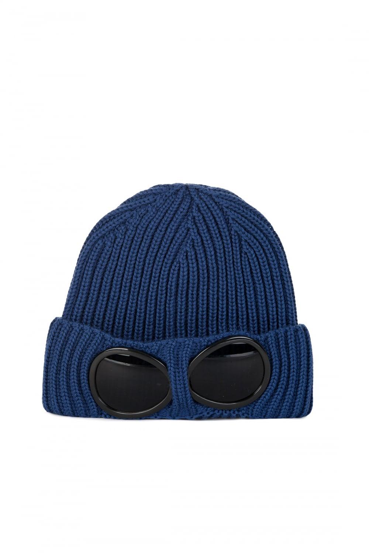 0e90c43b7 C.P Company Wool Goggle Beanie Blue
