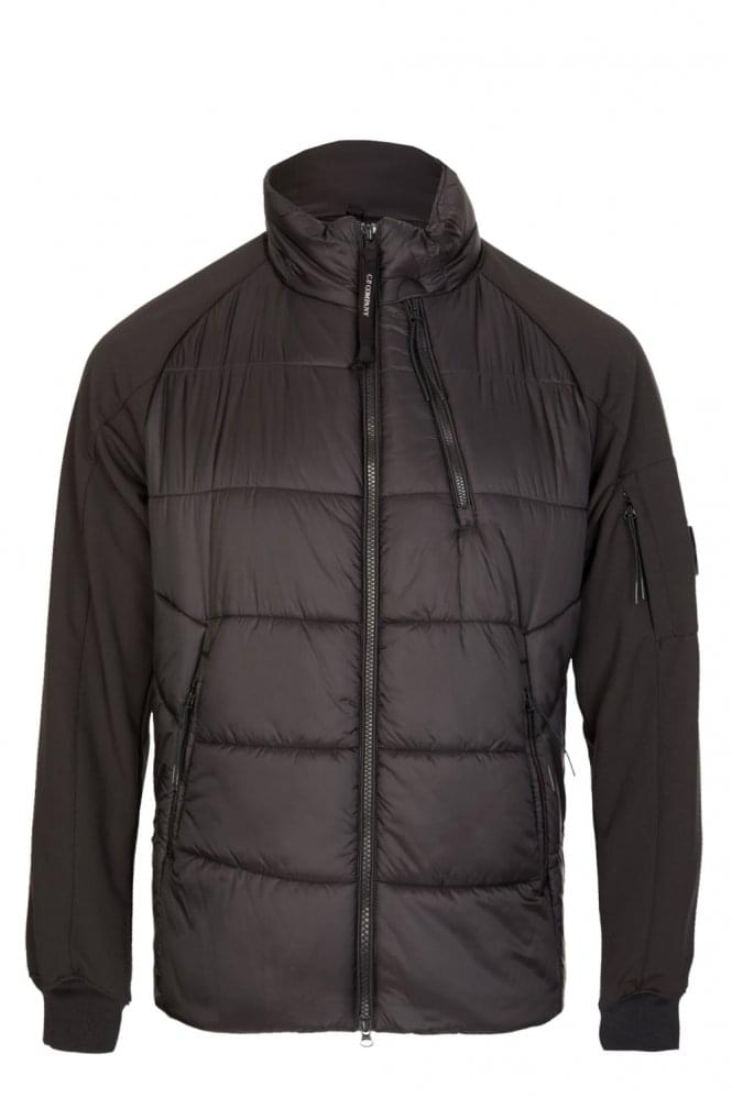 CP COMPANY C.P Company Zip Through Jersey Jacket Black