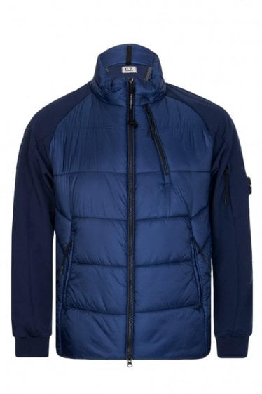 C.P Company Zip Through Jersey Jacket Blue