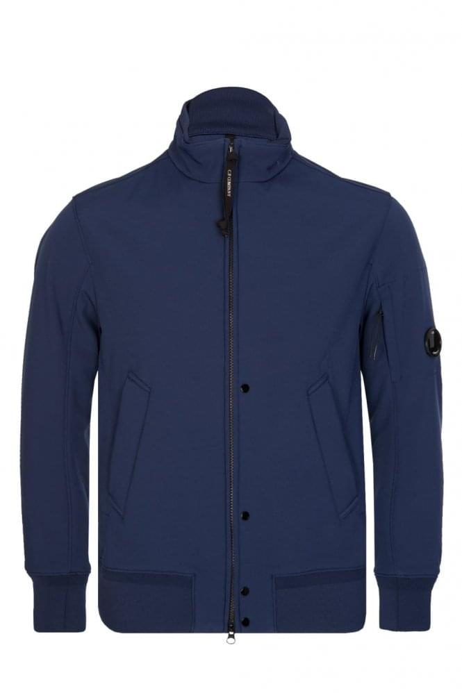 CP COMPANY C.P Company Zip Through Soft Shell Jacket Blue