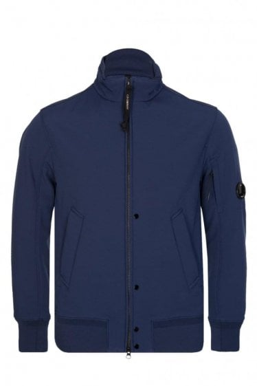 C.P Company Zip Through Soft Shell Jacket Blue