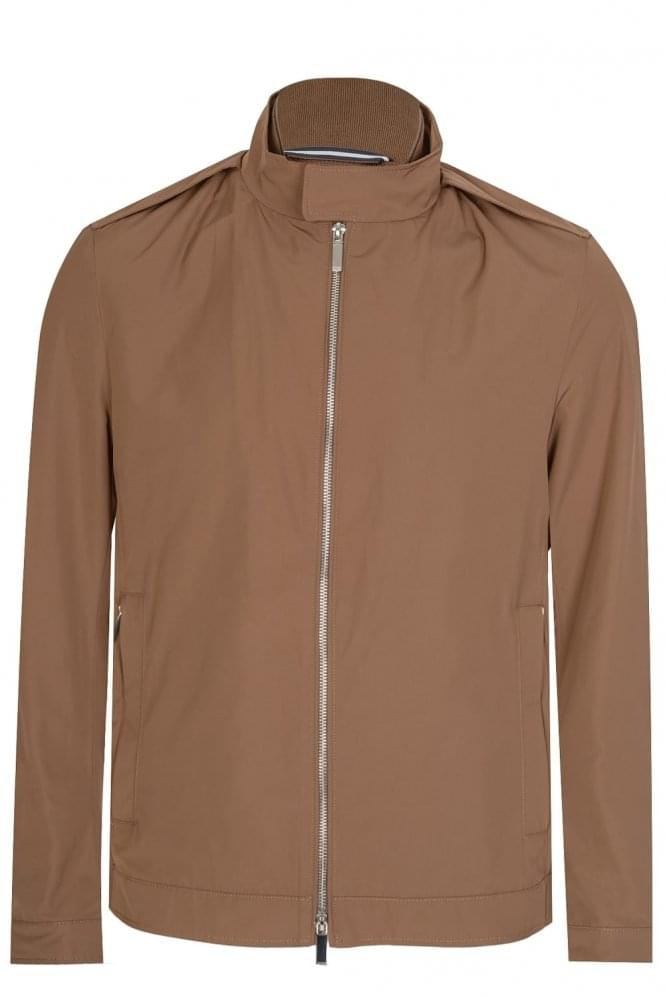 HUGO BOSS Cael Biker Jacket Stone