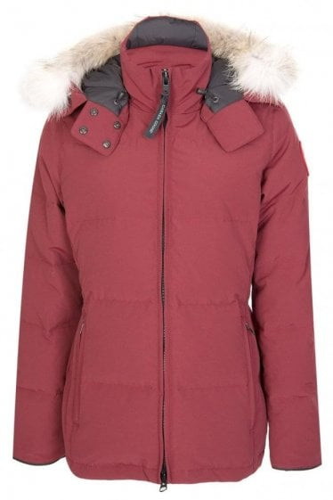 Canada Goose Womens Chelsea Parka Burgundy