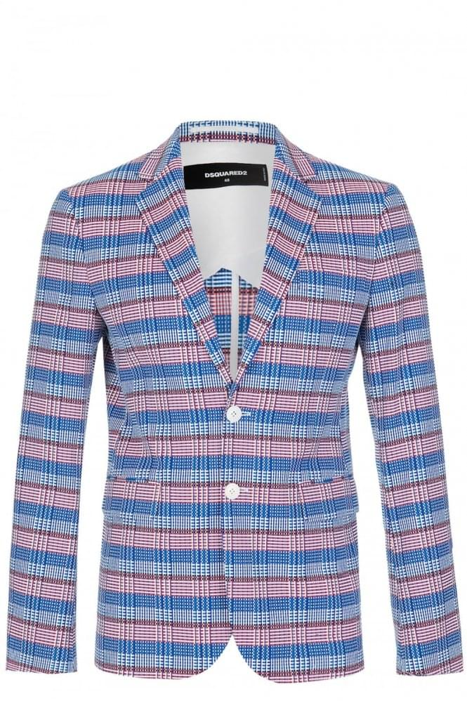 DSQUARED Andy Checked Evening Blazer