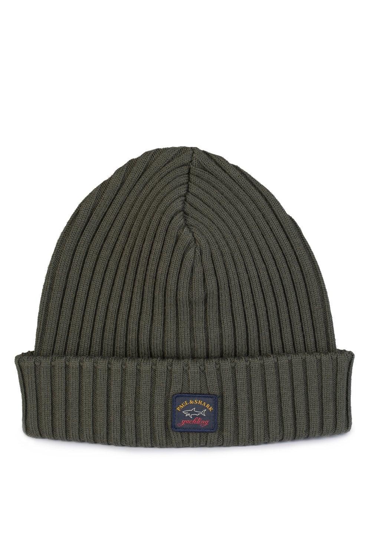 PAUL   SHARK Classic Beanie Hat Khaki - Clothing from Circle Fashion UK 11ed531a4509
