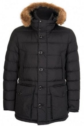 Moncler Cluny Fur Hooded Jacket