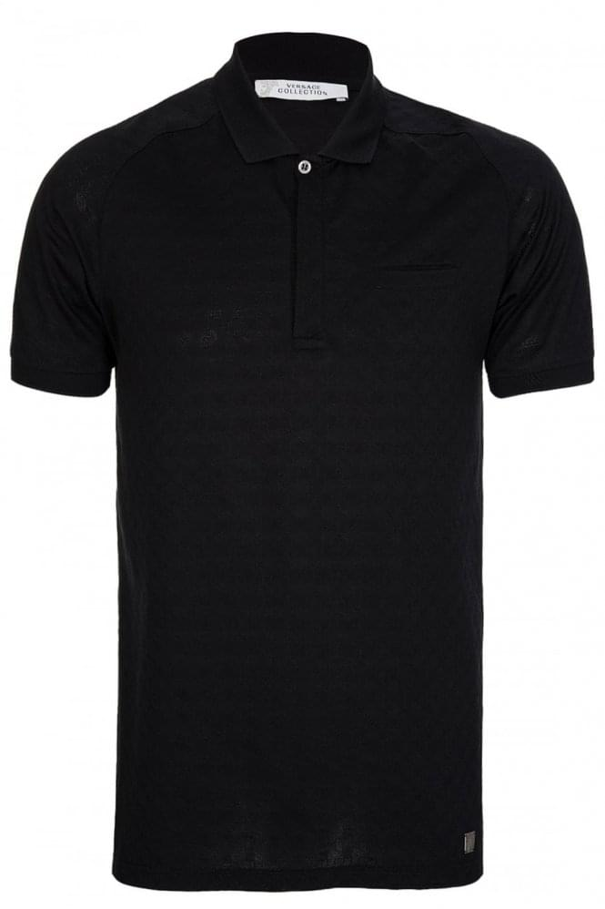 VERSACE Collections Chest Pocket Polo Black