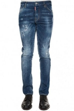 Dsquared Cool Guy Contrast Stitch Jeans