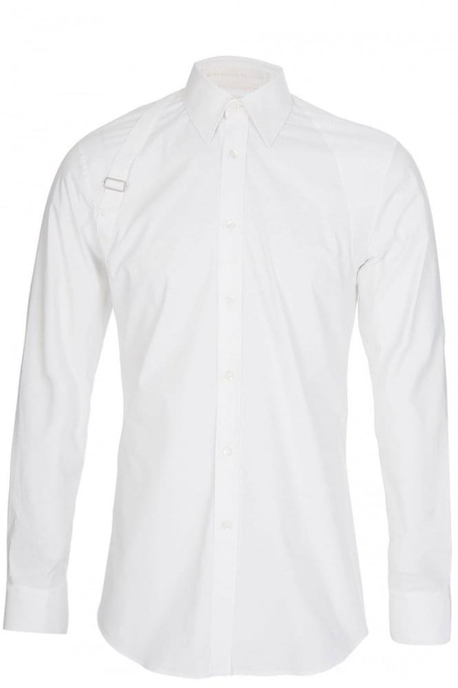 ALEXANDER MCQUEEN Long Sleeved Harness Shirt White