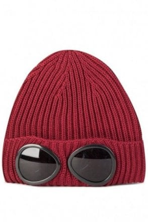 C.P Company Goggle Beanie Red