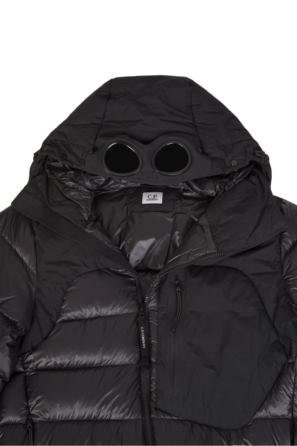 CP Company Goggle Hood Bubble Jacket in