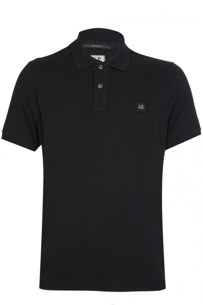 CP COMPANY Chest Logo Polo Shirt Black