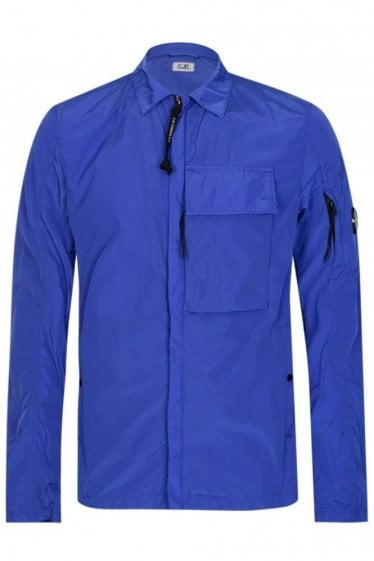 CP Company Chrome Overshirt Cobalt Blue