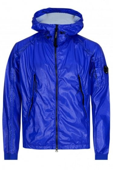 CP Company Cobalt Blue High Shine Hooded Jacket