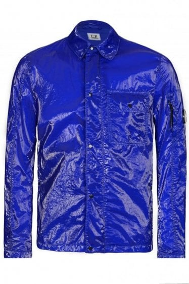 CP Company Cobalt Blue High Shine Over Shirt