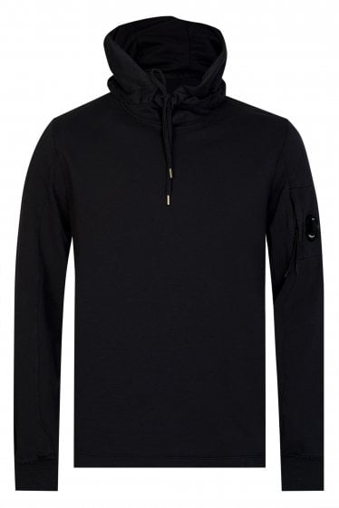 CP Company Sleeve Lens Pullover Hoodie Black