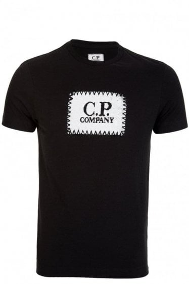 CP Company Solid Cotton Box Logo T-Shirt