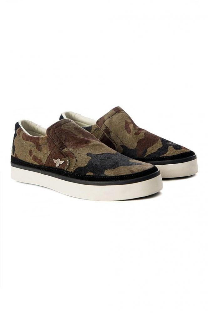 Creative Recreation Camouflage Slip On Sneakers Khaki