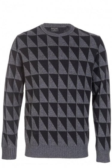 Paul Smith Geometric Triangle Jacquard Sweater