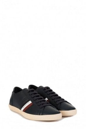 Moncler Monaco Leather Sneaker Blue