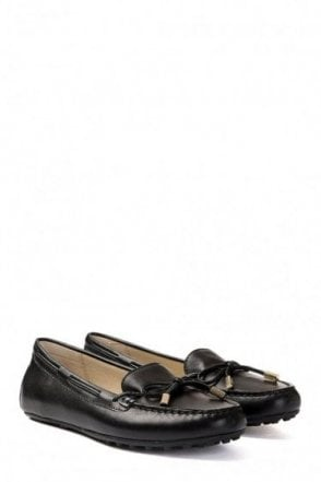 Michael Kors Daisy Leather Moccasin Black