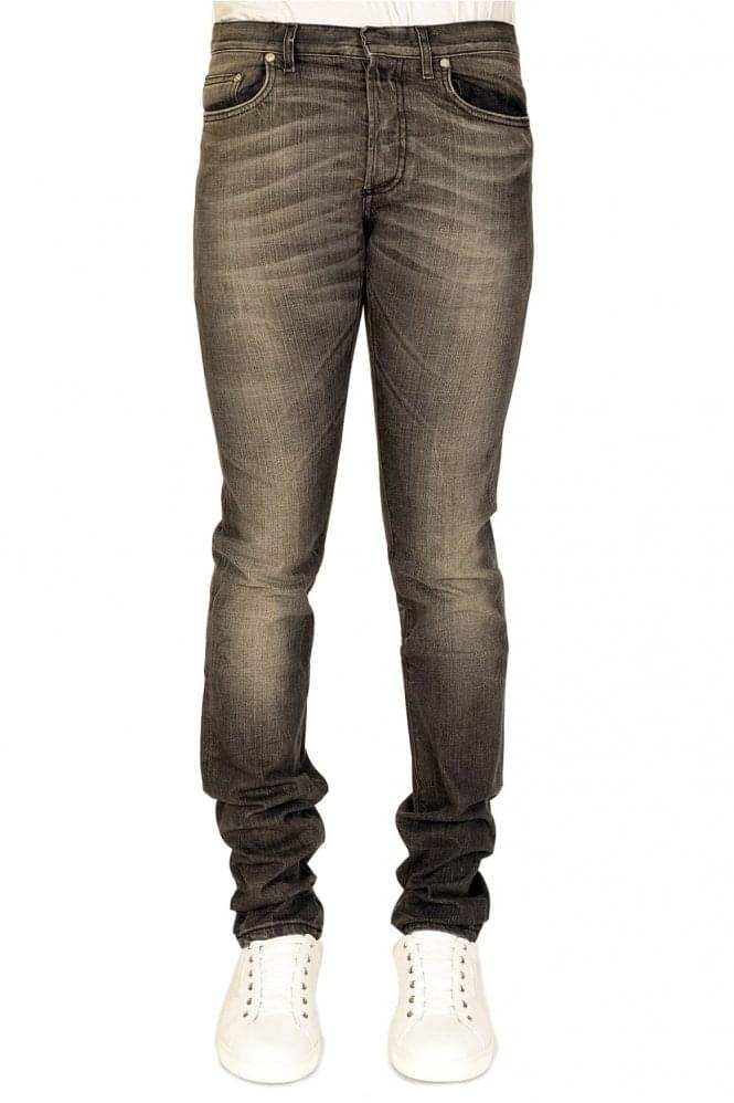 DIOR HOMME Dior Medium Rinse 5 Pocket Jeans Grey