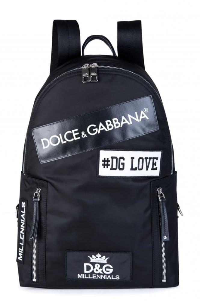 DOLCE & GABBANA Dolce & Gabanna All over Logo Backpack
