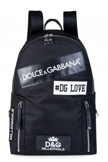 Dolce & Gabanna All over Logo Backpack