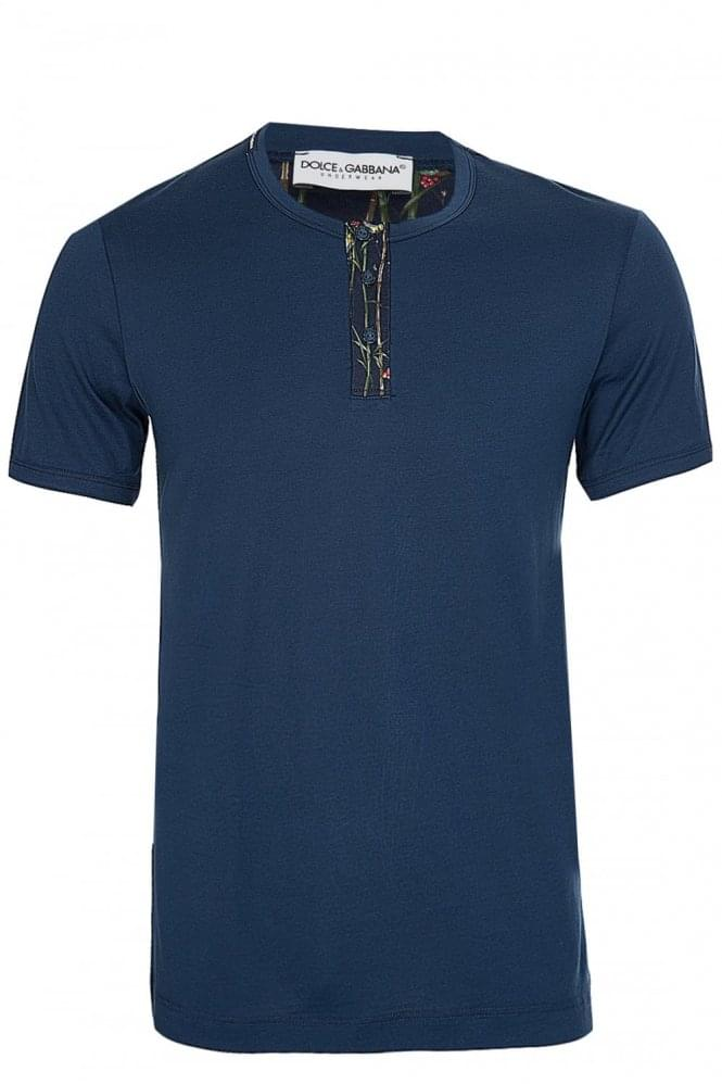 DOLCE & GABBANA Dolce & Gabanna Button Up Tshirt Navy