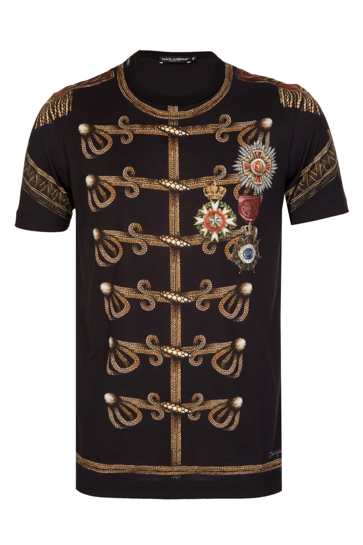 dolce gabbana admiral print t shirt black. Black Bedroom Furniture Sets. Home Design Ideas