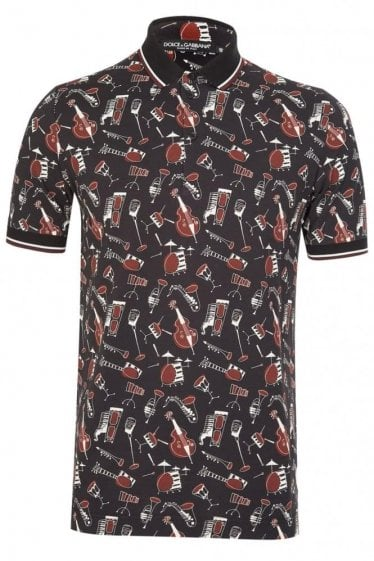 Dolce & Gabbana All Over Print Polo