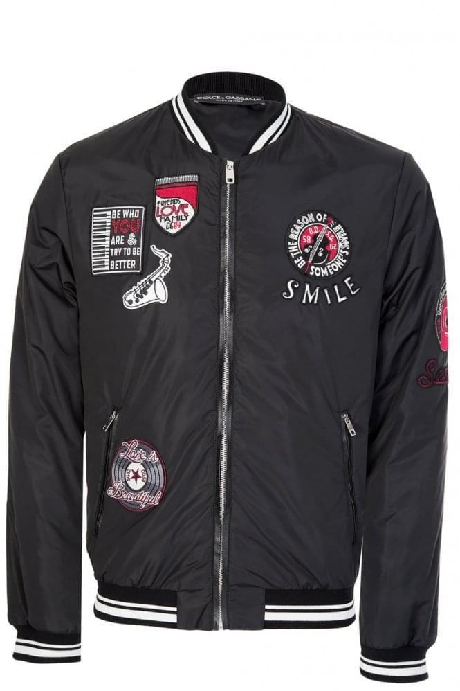 DOLCE & GABBANA Applique Patches Jacket Black