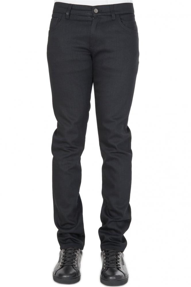 DOLCE & GABBANA Back Pocket Logo Stretch Jeans