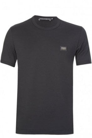 Dolce & Gabbana Chest Plaque T-Shirt Black