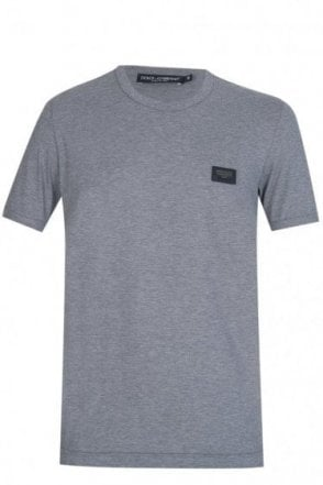 Dolce & Gabbana Chest Plaque T-Shirt Grey