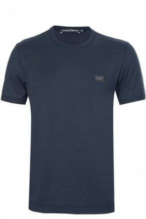Dolce & Gabbana Chest Plaque T-Shirt Navy