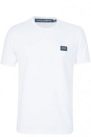 Dolce & Gabbana Chest Plaque T-Shirt White